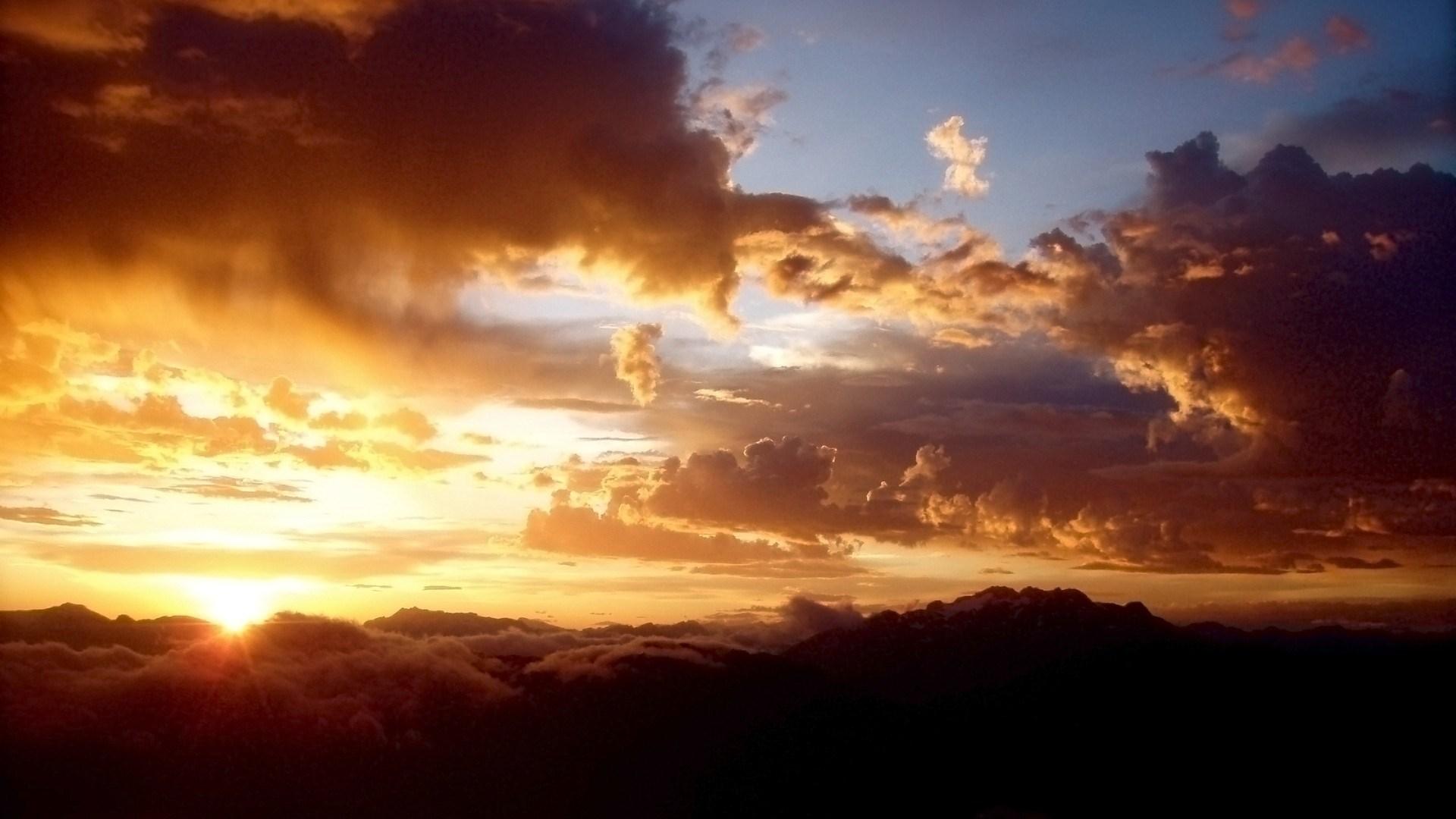 nature sky clouds sunlight color sunset wallpaper [1920x1080]