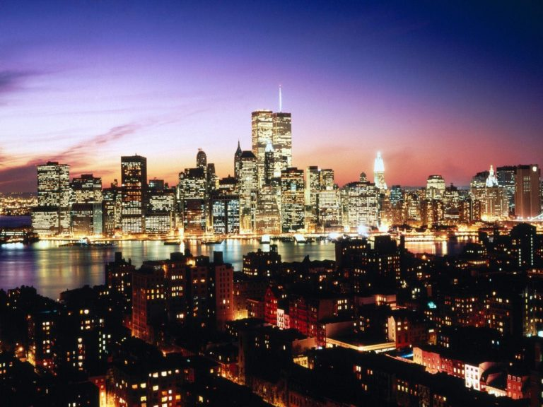 New York Evening Wallpaper 1600x1200 768x576