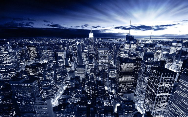 New York In Blue Wallpaper 1920x1200 768x480