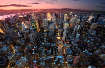 New York Manhattan USA City Wallpaper 2560x1600 340x220