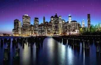 New York Night View Wallpaper 1920x1210 340x220