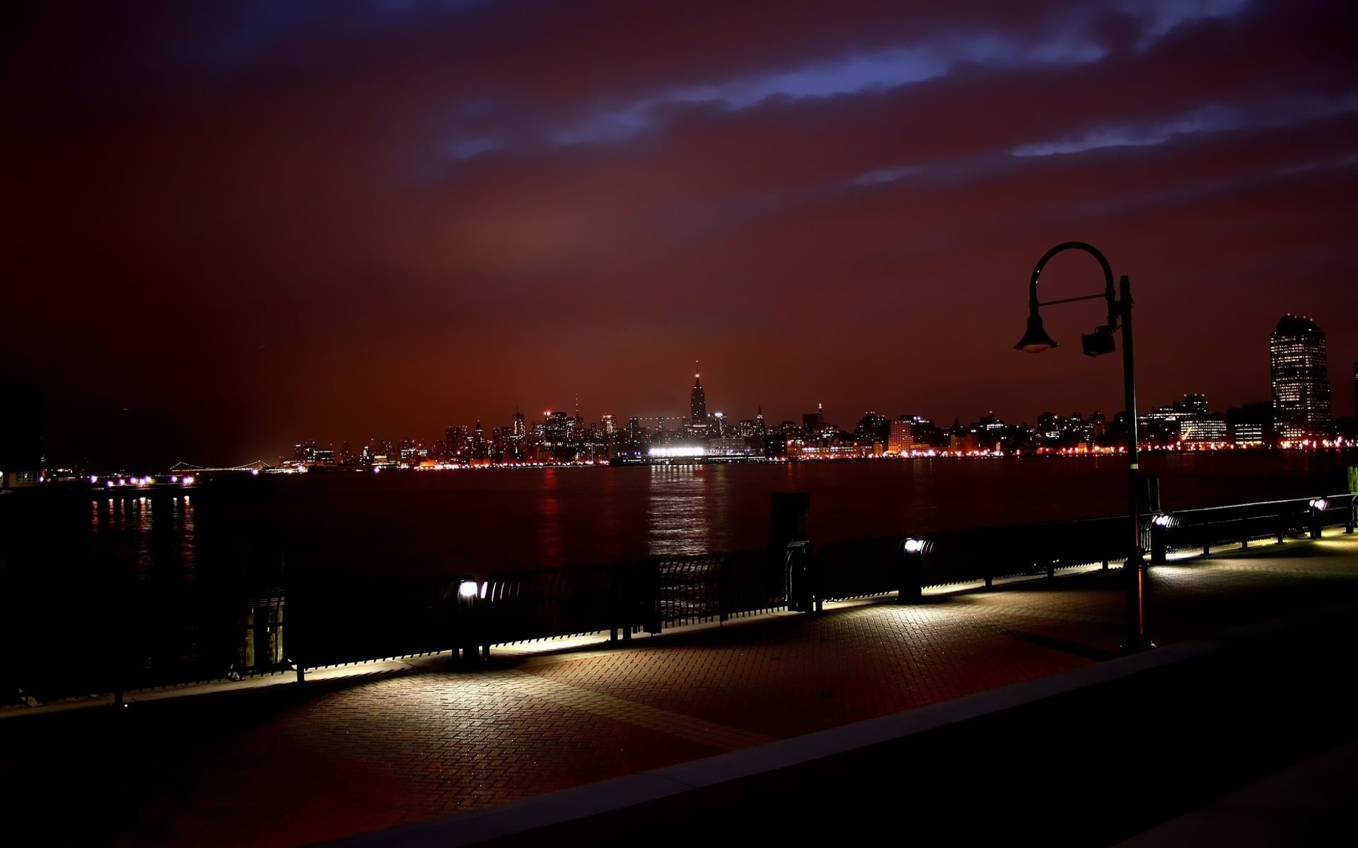 New York Skyline At Night Wallpaper 1920x1200