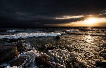 Ocean Sunlight Rocks Stones sea 340x220