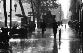 Paris France Storm Rain Wet Water Wallpaper 1920x1080 340x220