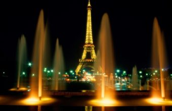 Paris Showers In Night Wallpaper 1600x1200 340x220