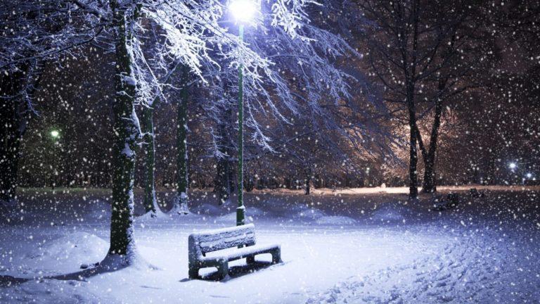 Park Bench In Snow Wallpaper 1920x1080 768x432