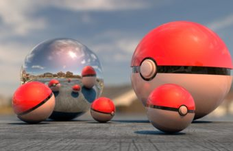 Pokemon Go 3D Balls Wallpaper 340x220