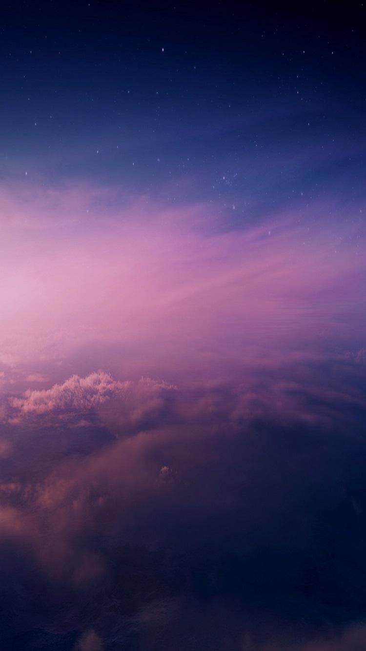 Purple Sky IPhone 7 Wallpaper [750x1334]