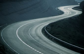 Road Asphalt Bends Wallpaper 1440x900 340x220