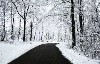 Road Asphalt Snow Wallpaper 1440x810 340x220