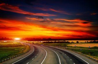 Road Decline Asphalt Wallpaper 1440x900 340x220