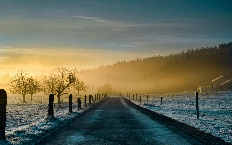 Рассвет утренний туман  № 3795977 бесплатно