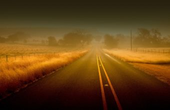 Road Lines Fog Wallpaper 1440x900 340x220