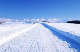 Road WIinter Snow Wallpaper 1440x900 340x220