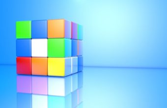 Rubiks Cube Colorful Face Wallpaper 340x220