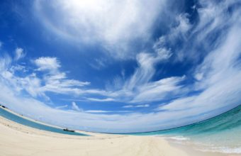 Sky Clouds Beach Wallpaper 1440x900 340x220