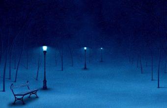 Snow Bench Winter Wallpaper 1440x900 340x220