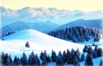 Snow Falling Day Wallpaper 1900x1267 340x220