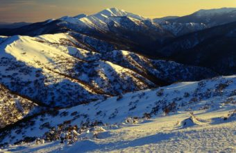 Sunrise On Mount Featherto Australia Wallpaper 1600x1200 340x220
