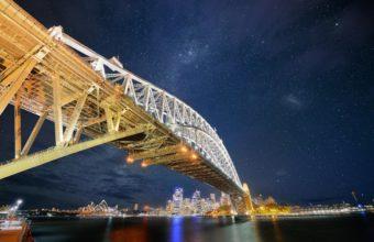 Sydney Bridge Nights Wallpaper 2560x1600 340x220