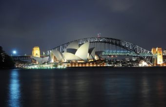 Sydney Night View Wallpaper 1920x1200 340x220