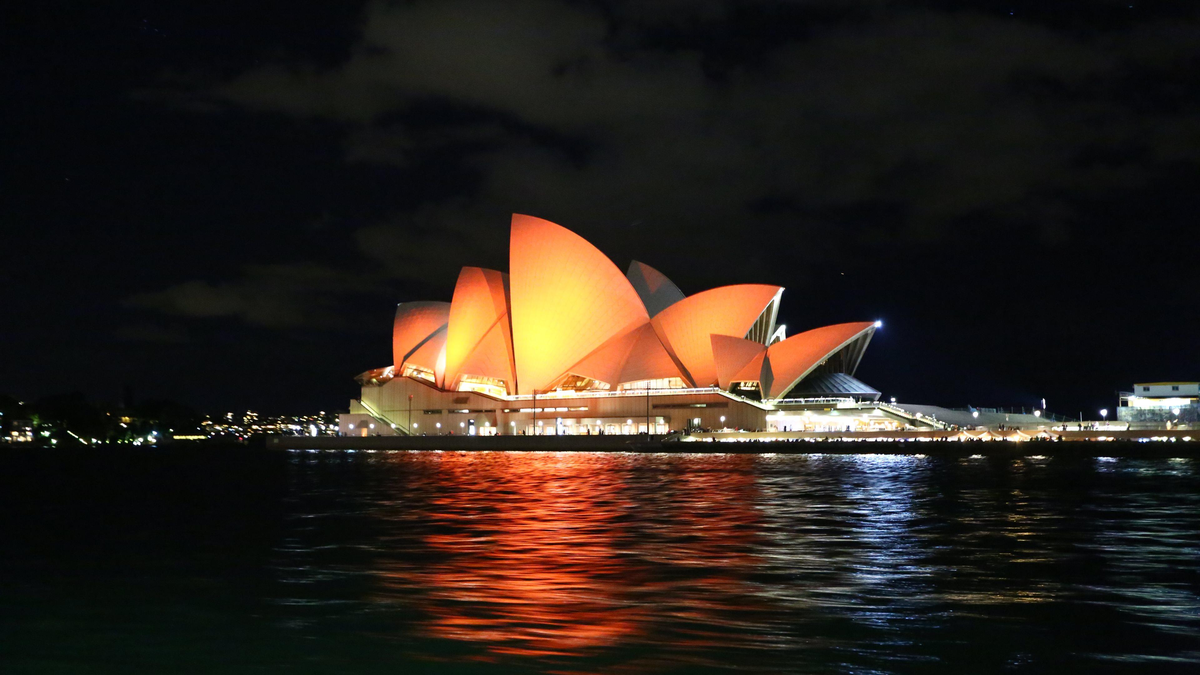 Сидней Австралия архитектура страны море ночь скачать