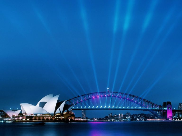 Sydney Opera House At Dusk Wallpaper 1600x1200 768x576