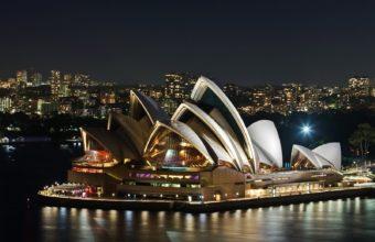 Sydney Opera House Night Wallpaper 1600x1200 340x220