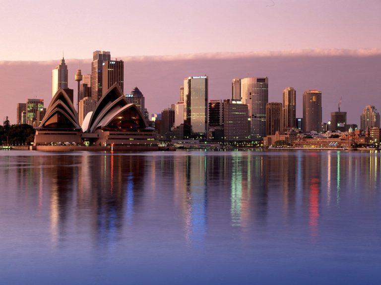 Sydney Reflections Australia Wallpaper 1600x1200 768x576