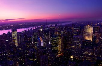 Twilight In New York City Wallpaper 2560x1600 340x220