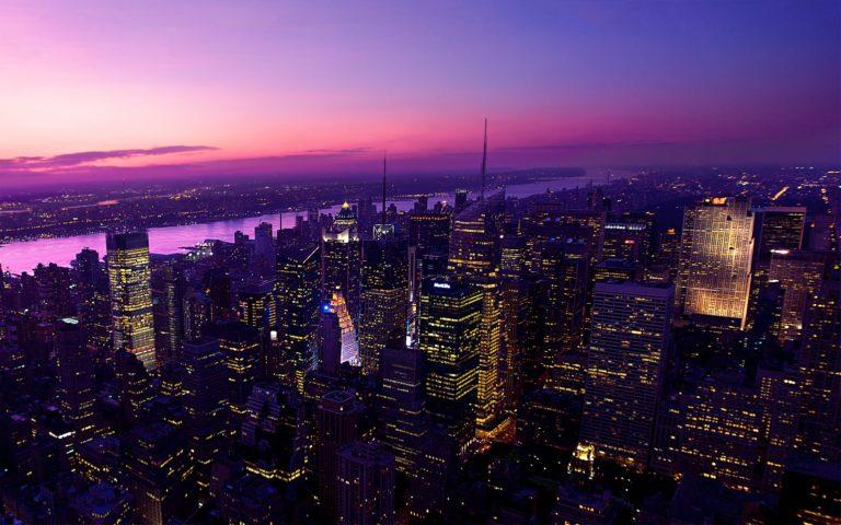 Twilight In New York City Wallpaper 2560x1600 768x480