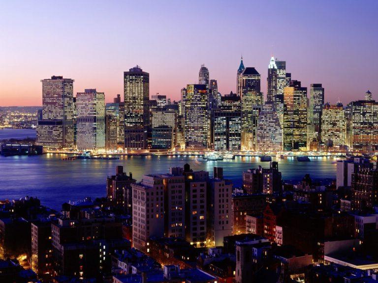 Twilight Sky New York Wallpaper 1600x1200 768x576