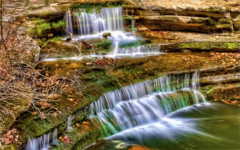 Waterfall Vire From Top Wallpaper 768x480
