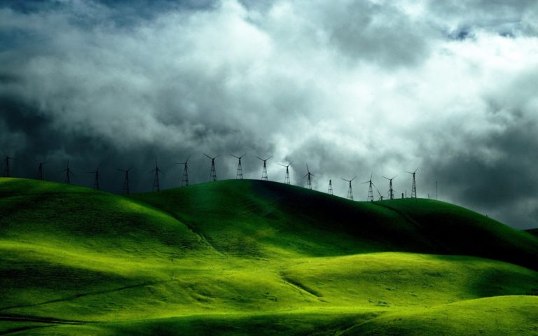 Windmills Landscape Wallpaper 1920x1200 768x480