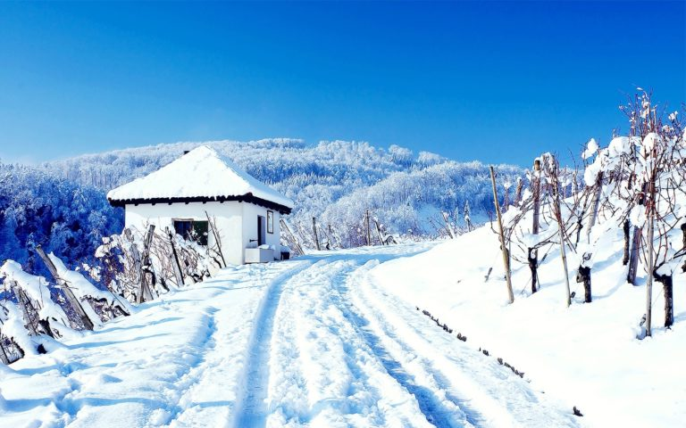 Winter House Road Wallpaper 1680x1050 768x480