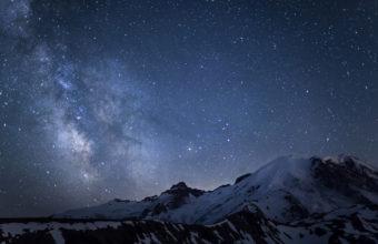 Winter Milky Way 4K Ultra HD Wallpaper 3840x2160 340x220