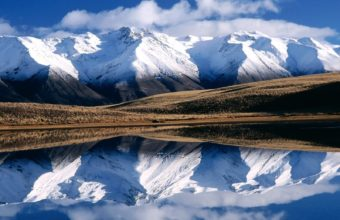 Winter Mountains Reflection Wallpaper 1600x1200 340x220