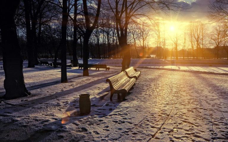 Winter Park Sunset Wallpaper 2560x1600 768x480
