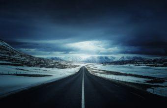 Winter Road 4K Ultra HD Wallpaper 3840x2160 340x220