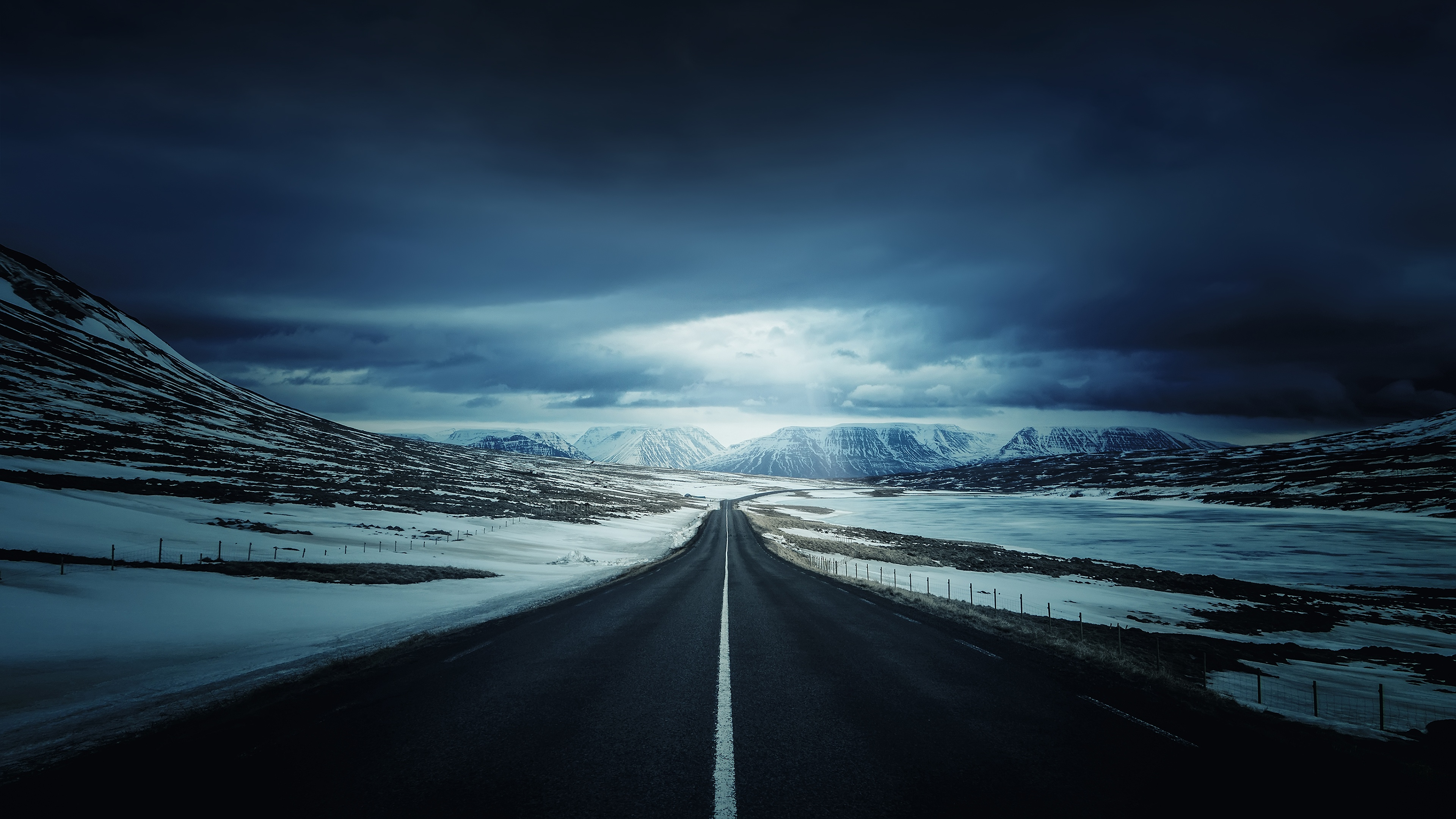 Winter Road 4k Ultra Hd Wallpaper 3840x2160 340x220