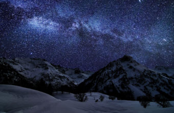 Winter Sky Stars Wallpaper 2560x1600 340x220