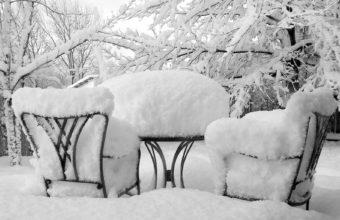 Winter Snow Chairs Wallpaper 1920x1174 340x220