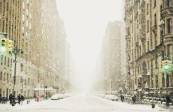 Winter Snow City Wallpaper 1680x1050 340x220