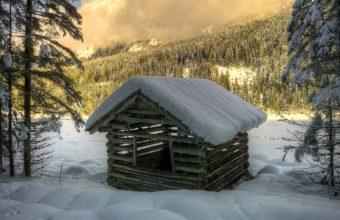 Winter Snow House Wallpaper 1920x1200 340x220