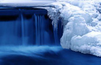 Winter Waterfall River Wallpaper 3324x2172 340x220