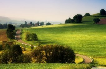 Wonderful Rural Landscape Road Wallpaper 1920x1080 340x220