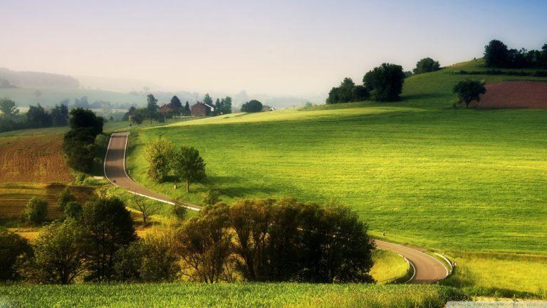 Wonderful Rural Landscape Road Wallpaper 1920x1080 768x432