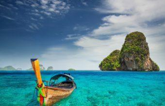 island boat beach tropical sea ocean 340x220