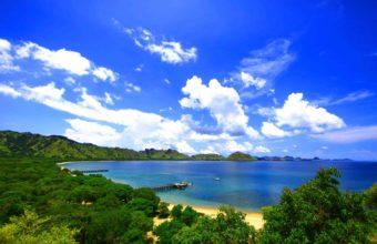 landscape island Komodo sea ocean 340x220