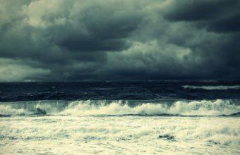 ocean sea waves sky clouds storm 340x220
